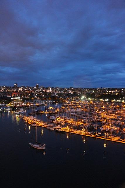 Night view night sea, travel vacation.