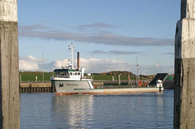 Norddeich ferry north sea.