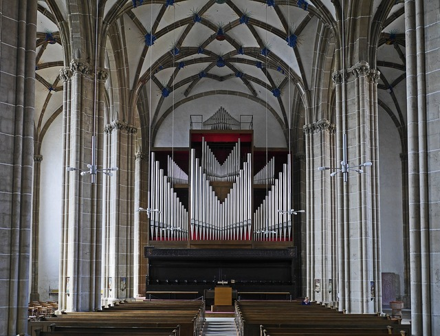 Nordhausen cathedral of the holy cross nave, music.