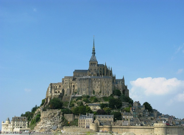 Normandy france mont st michel.