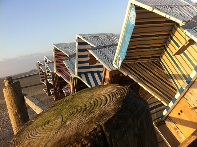 North sea beach beach chair, travel vacation.