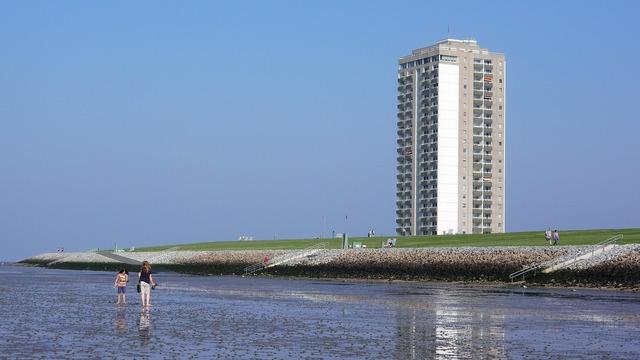 North sea beach germany, travel vacation.