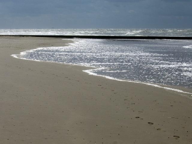 North sea borkum swell, travel vacation.
