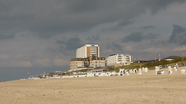 North sea hotel sea, travel vacation.