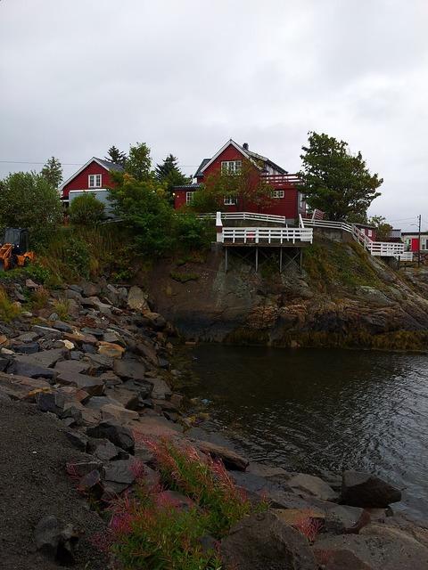 Norway bay stones, travel vacation.