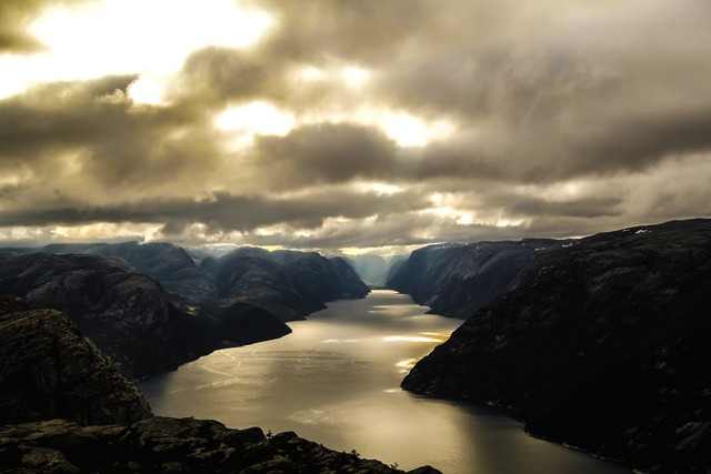 Norway fjord lysefjord, nature landscapes.