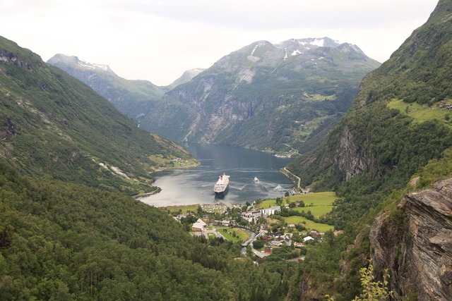 Norway geiranger fjord cruise, nature landscapes.