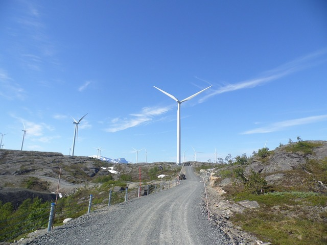 Norway wind wind turbine, nature landscapes.