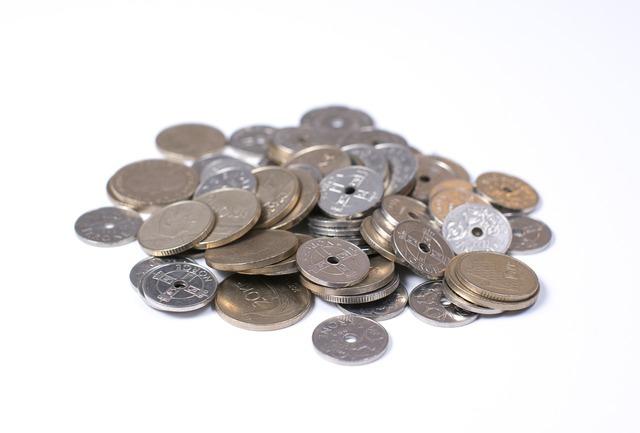 Norwegian crowns coins money, business finance.