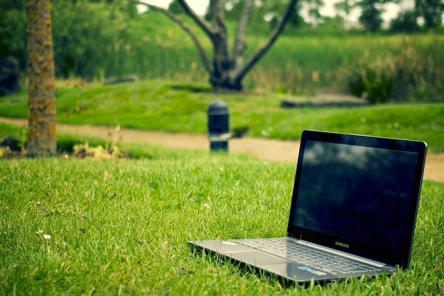 Notebook laptop work, computer communication.