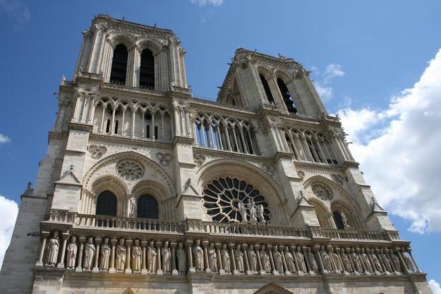 Notre dame of paris cathedral paris, architecture buildings.