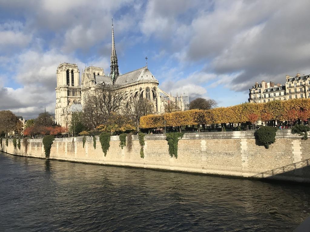 Notre dame river france, places monuments.