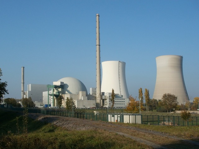 Nuclear power plant reactor atomic, industry craft.