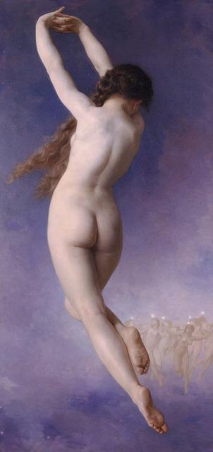 Nude woman female, beauty fashion.