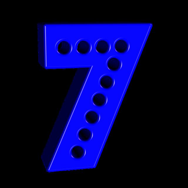 Number digit font.