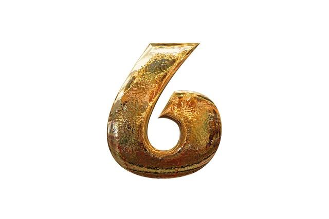 Number digit six.
