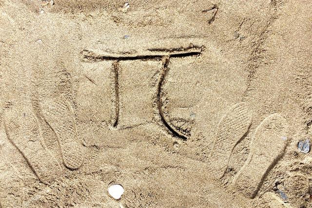 Number pi symbol, travel vacation.
