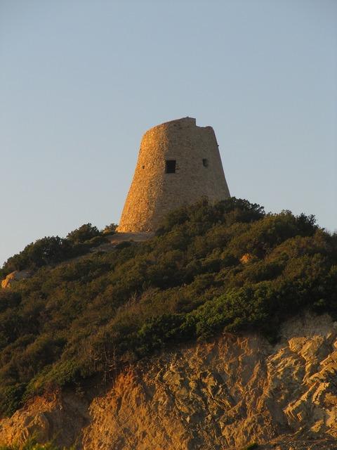 Nuraghe tower historically.