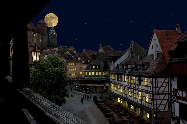 Nuremberg castle old town.