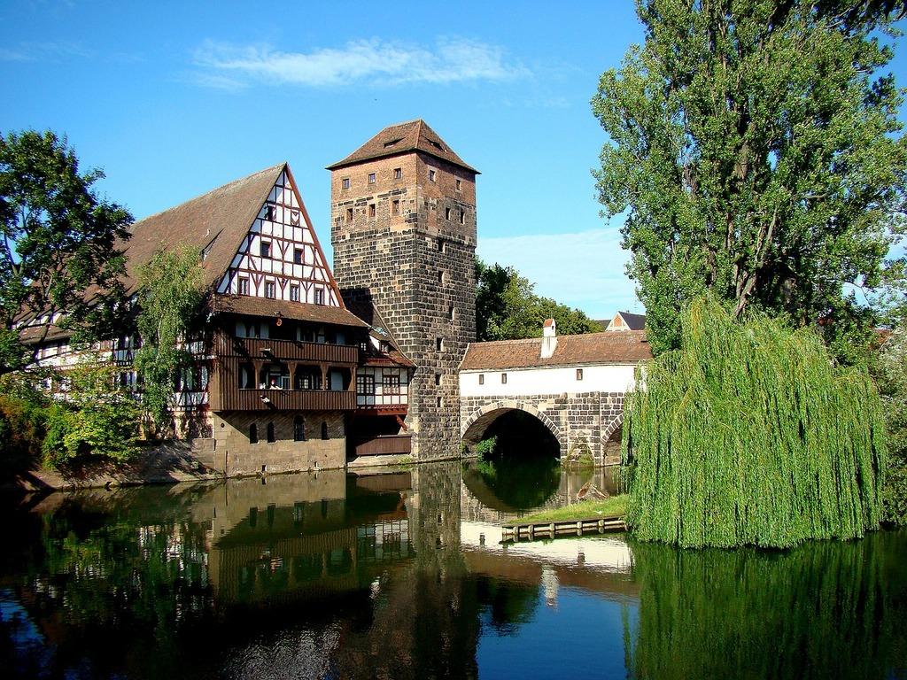 Nuremberg hangman's bridge old town.