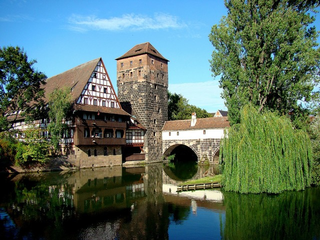 Nuremberg hangman's bridge old town.