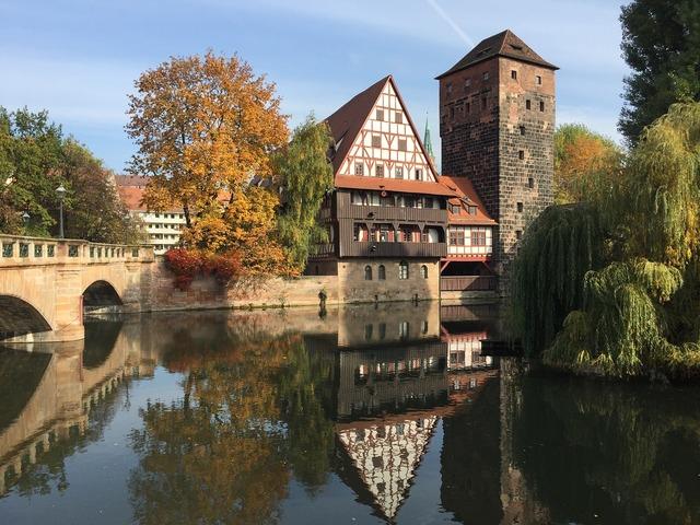 Nuremberg swiss francs middle ages, architecture buildings.