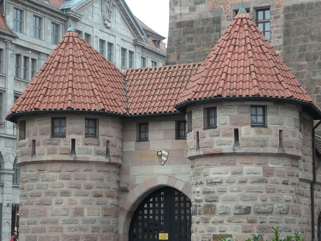 Nuremberg white tower tower, architecture buildings.