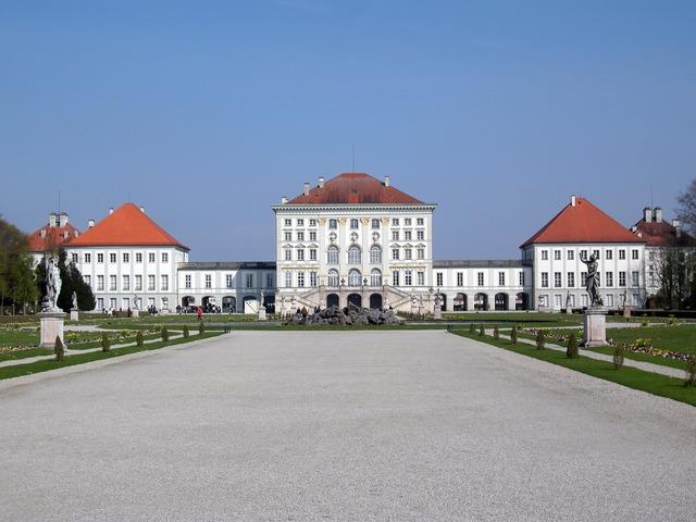 Nymphenburg castle munich, architecture buildings.