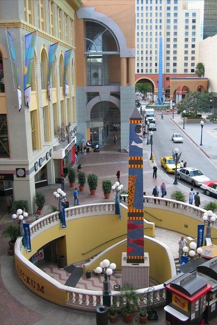 Obelisk mall column, architecture buildings.