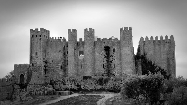 Obidos portugal castle, travel vacation.
