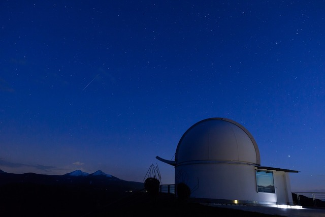 Observatory stars sky, science technology.