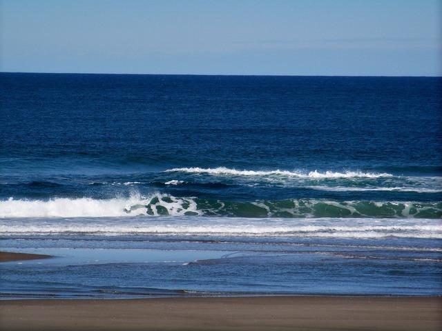 Ocean wave green, travel vacation.