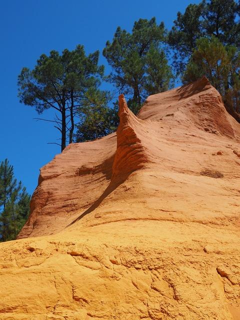Ocher rocks ocher ocher quarry.
