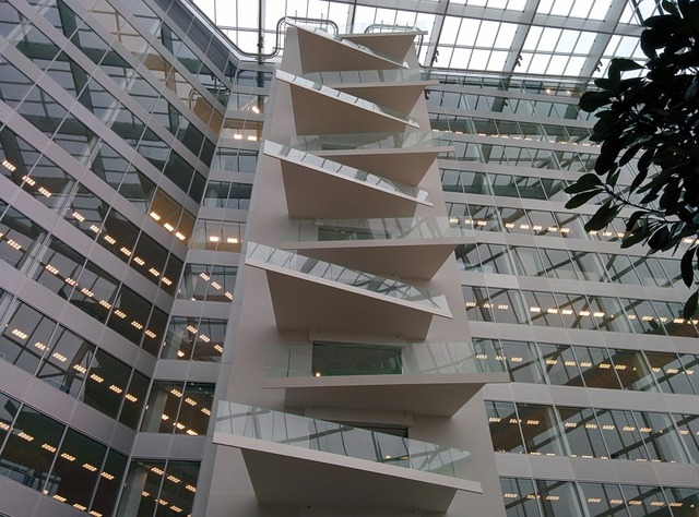 Office staircase modern, business finance.
