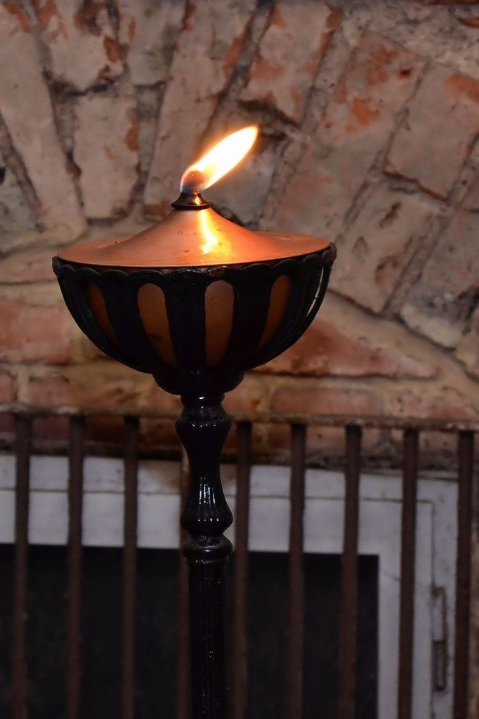 Oil lamp flame lamp.