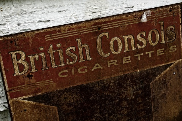 Old advertising sign.
