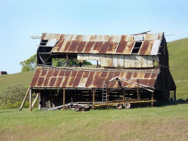 Old barn rusty.