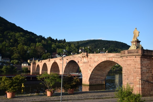 Old bridge heidelberg neckar.
