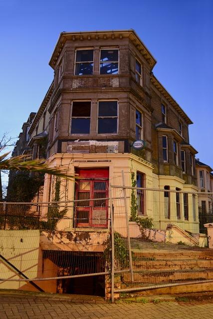 Old building demolition, architecture buildings.