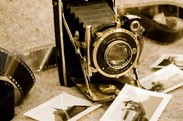 Old camera photography, business finance.