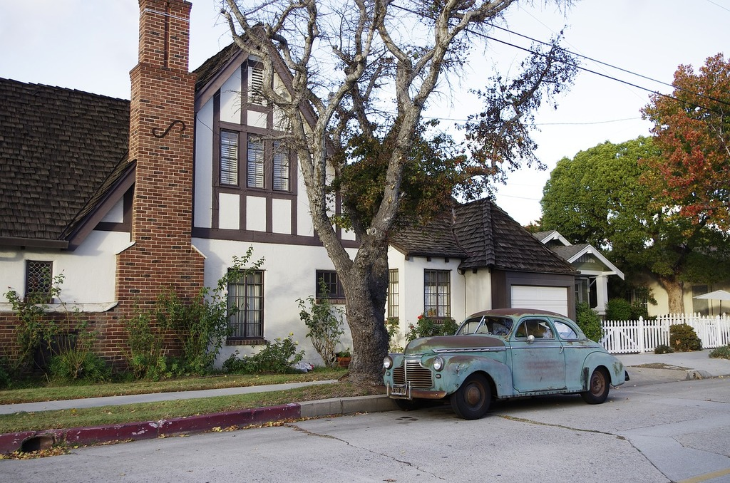 Old cars california house, architecture buildings.