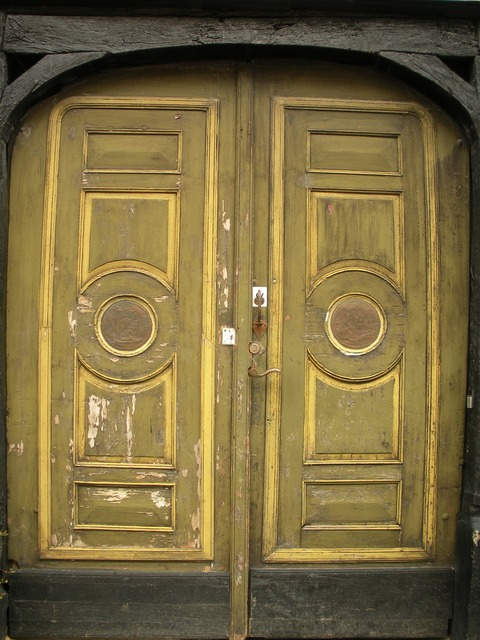 Old door 1700 century, architecture buildings.