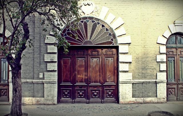 Old door old wood.