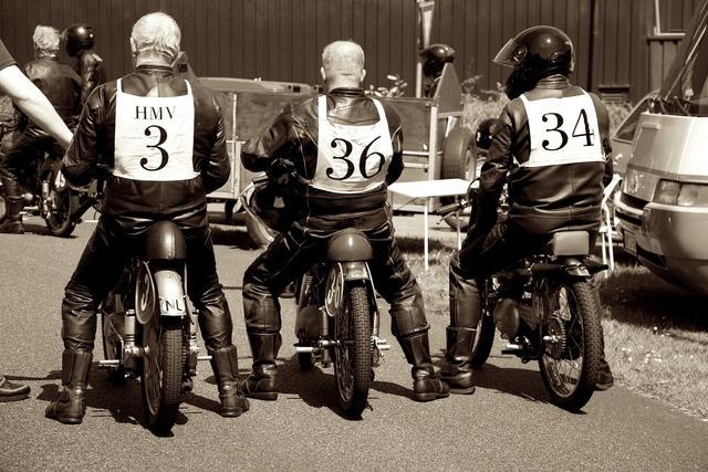 Old engines rockers motor bike.