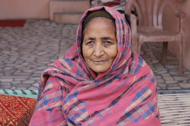 Old lady india patiala, beauty fashion.