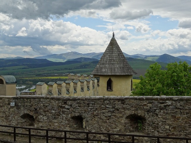 Old lubovnia slovakia castle, architecture buildings.