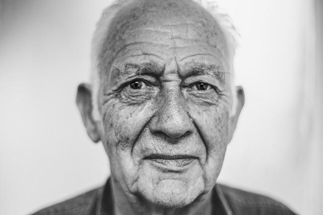 Old man man face, people.