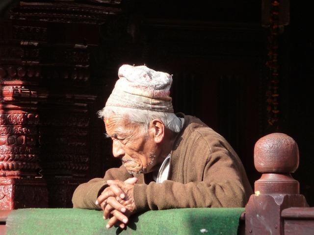 Old man nepal kathmandu.