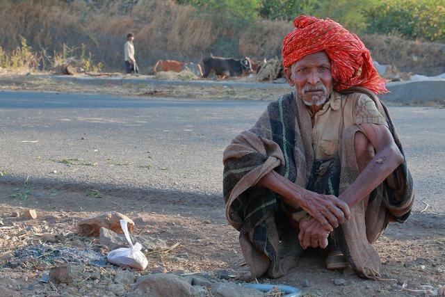 Old man roadside herder.