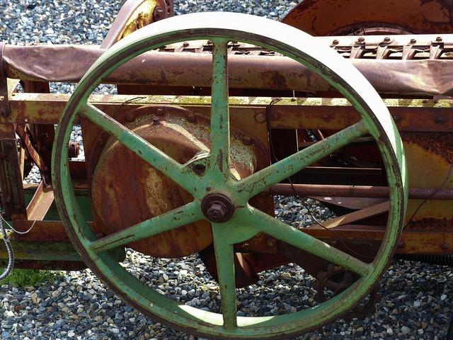 Old rusty harrow.